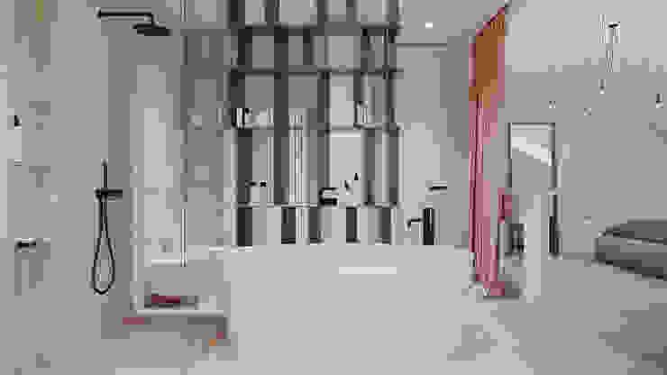ванная дизайн студия А Гординского Minimalist style bathrooms Ceramic Multicolored