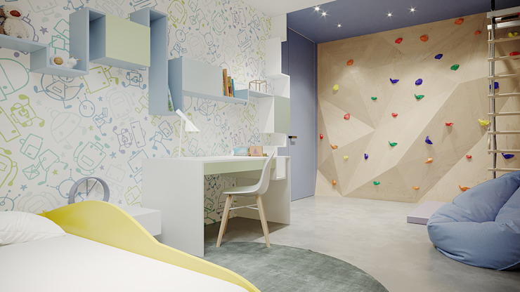 дизайн студия А Гординского Cuarto para niños Compuestos de madera y plástico Multicolor