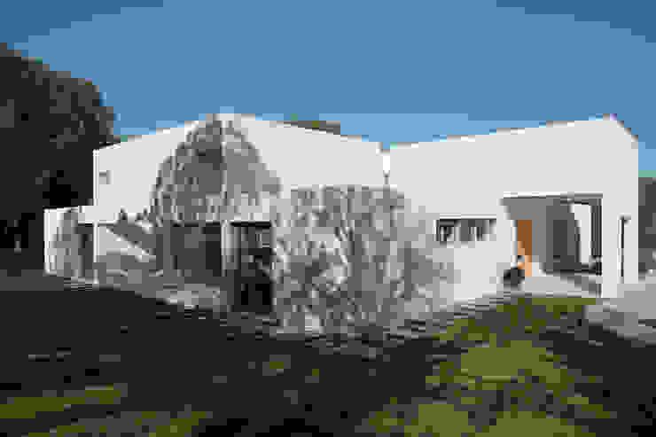 Fachada y jardín de Otto Medem Arquitecto vanguardista en Madrid Mediterráneo