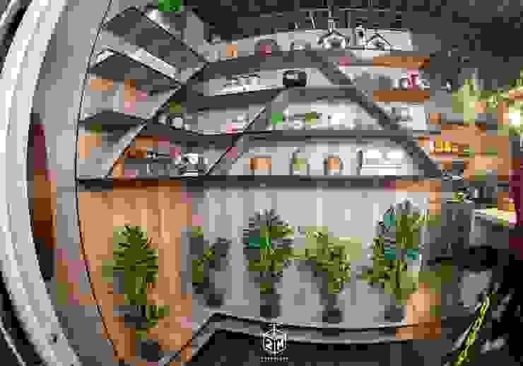 Entrada - Prateleiras Bares e clubes industriais por Fark Arquitetura e Design Industrial MDF