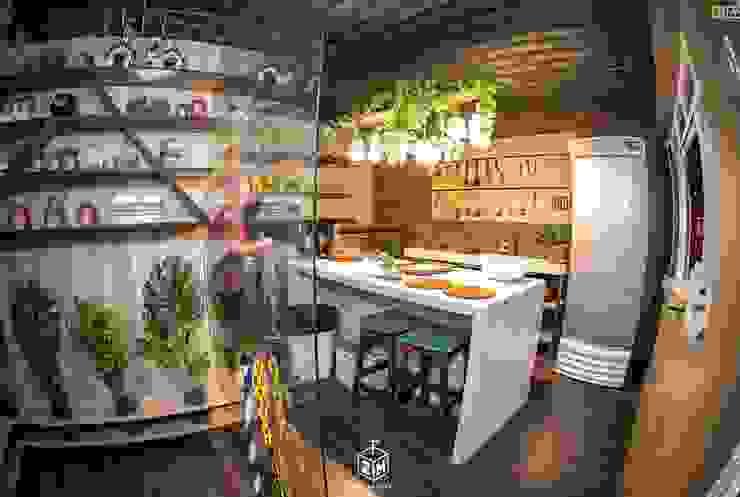 Cozinha Funcional Locais de eventos industriais por Fark Arquitetura e Design Industrial MDF