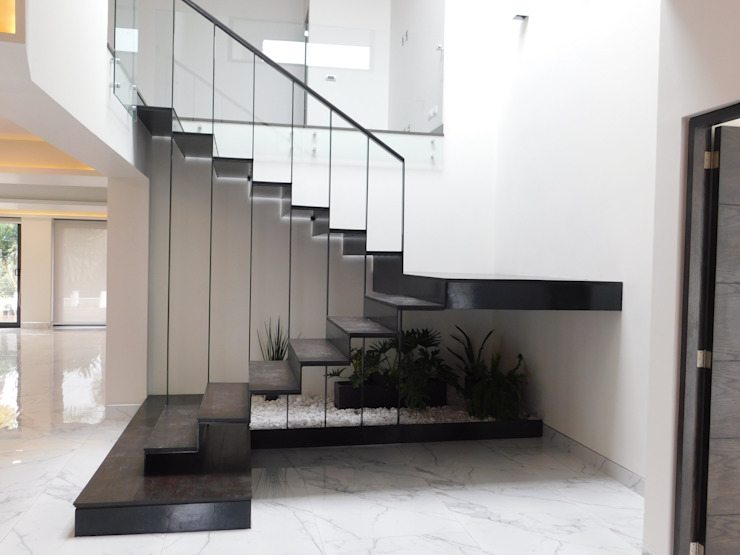 dBLuM°C Project Management Corridor, hallway & stairs Stairs Glass Transparent