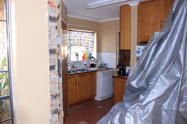 During construction by Pretoria Kitchens and Bedrooms