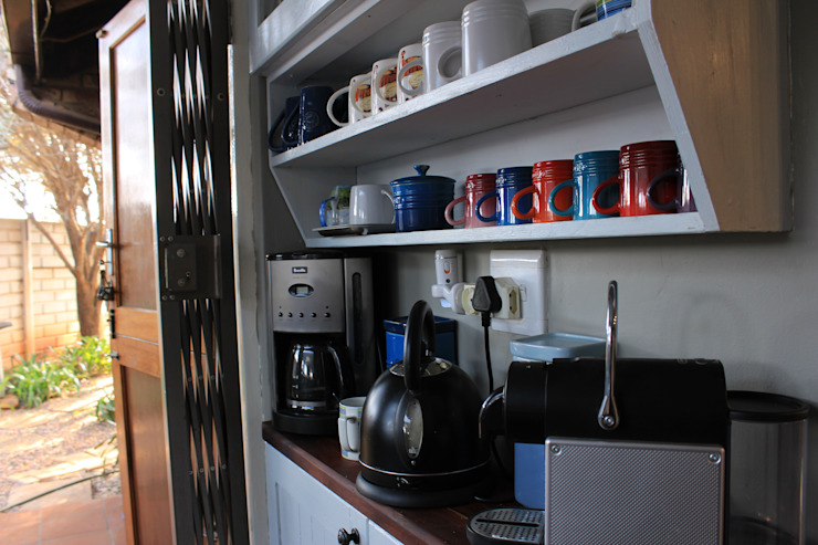 The coffee station by Pretoria Kitchens and Bedrooms