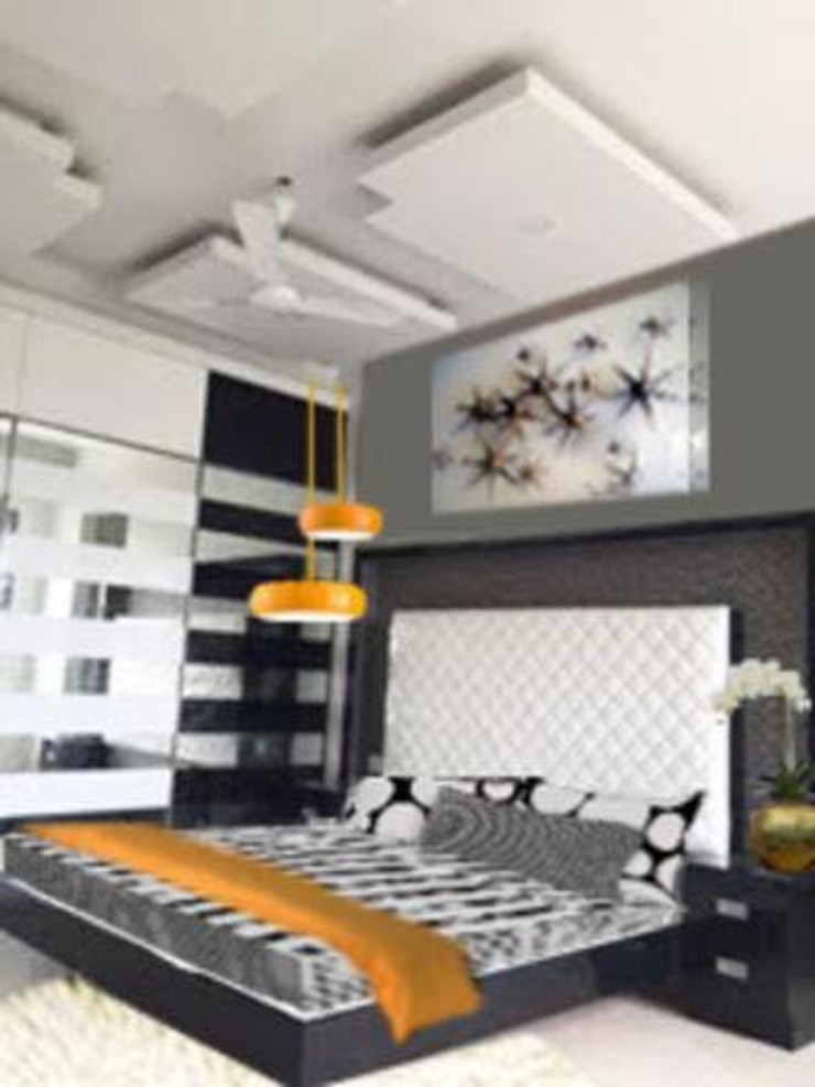 The Black & White Master bedroom by Phat Phorms Designs