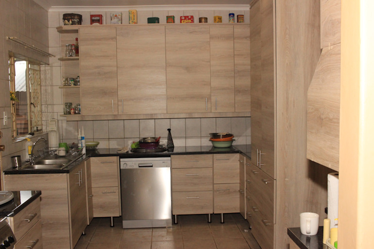 Melamine kitchen after by Pretoria Kitchens and Bedrooms