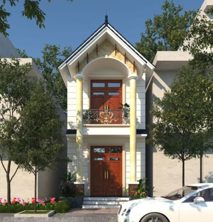 Mẫu nhà mái thái 2 tầng giá rẻ bởi Công ty xây dựng nhà đẹp mới