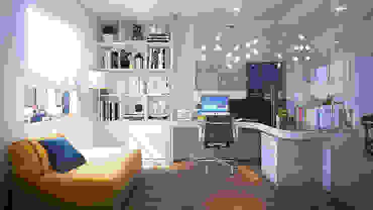 CĂN HỘ TROPIC GRADEN Phòng học/văn phòng phong cách hiện đại bởi RIKATA DESIGN Hiện đại