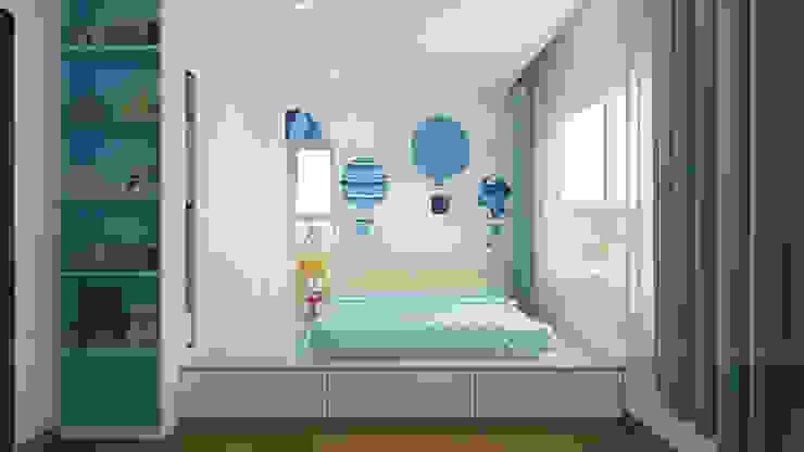 CĂN HỘ TROPIC GRADEN Phòng trẻ em phong cách hiện đại bởi RIKATA DESIGN Hiện đại