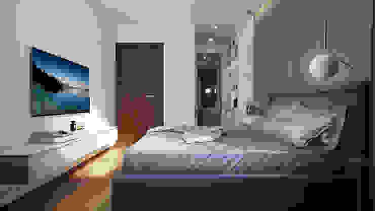 CĂN HỘ TROPIC GRADEN Phòng ngủ phong cách hiện đại bởi RIKATA DESIGN Hiện đại