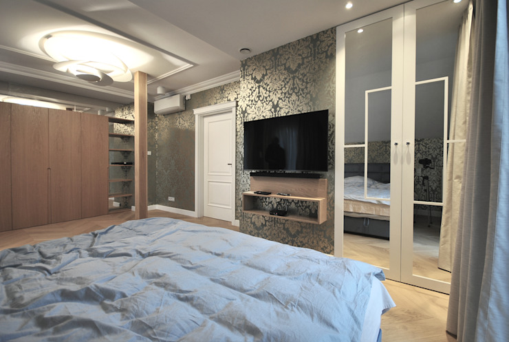 Piotr Stolarek Projektowanie Wnętrz Eclectic style bedroom