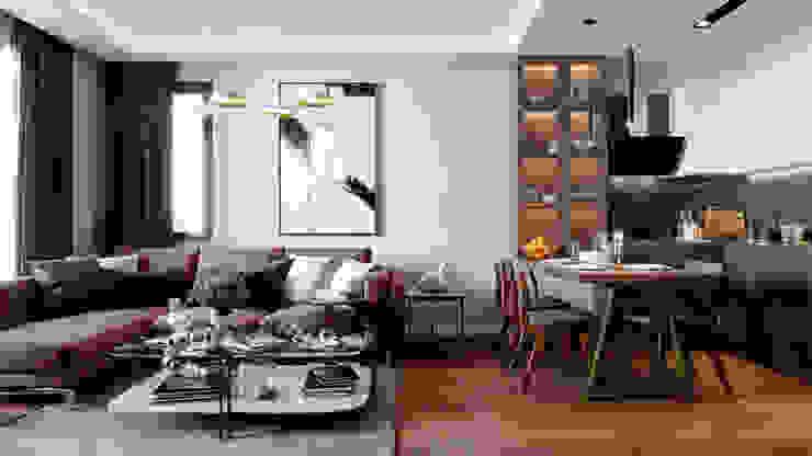 Çalık Konsept Mimarlık – Salon ve Mutfak: modern tarz , Modern