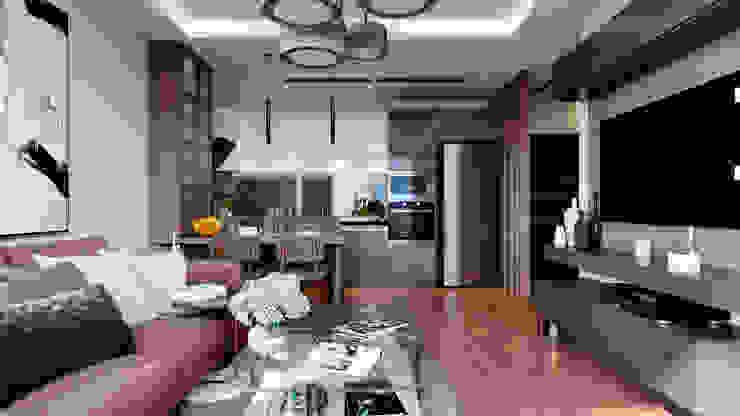 Çalık Konsept Mimarlık – Oturma Odası ve Mutfak: modern tarz , Modern