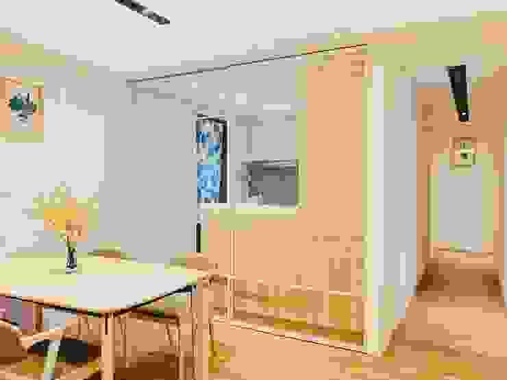 空氣感的玻璃拉門 根據 圓方空間設計 簡約風 合板