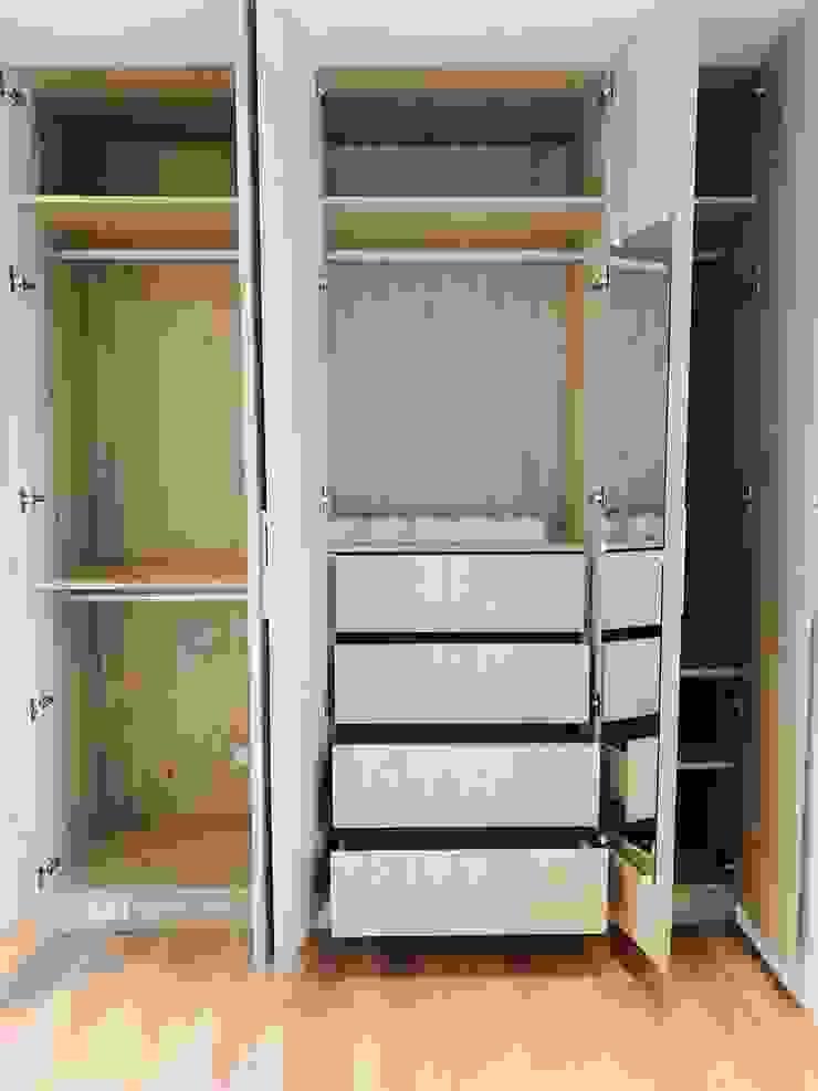 收納強大的系統衣櫃 根據 圓方空間設計 簡約風 合板