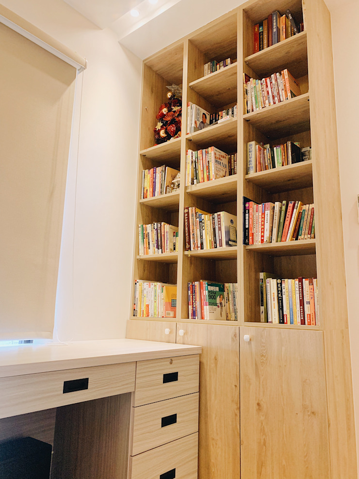 【住家】溫馨好品味的居家空間 根據 圓方空間設計 日式風、東方風 合板