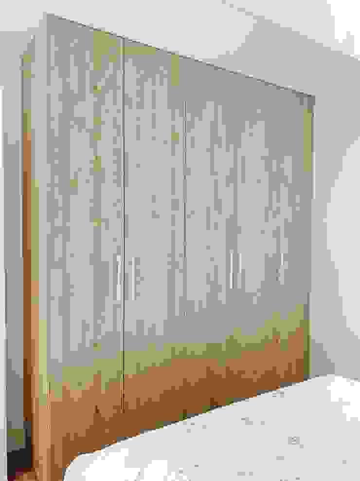 系統衣櫃 根據 圓方空間設計 簡約風 合板