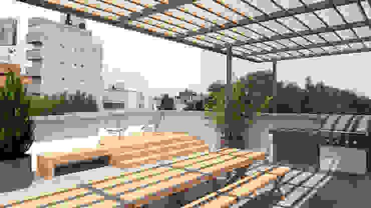 Hiên, sân thượng phong cách hiện đại bởi Hall Arquitectos Hiện đại