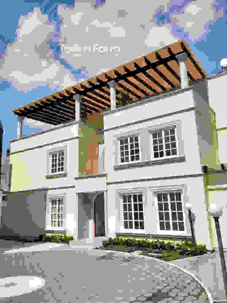 TexturiForm Balkon, Beranda & Teras Klasik Wood effect