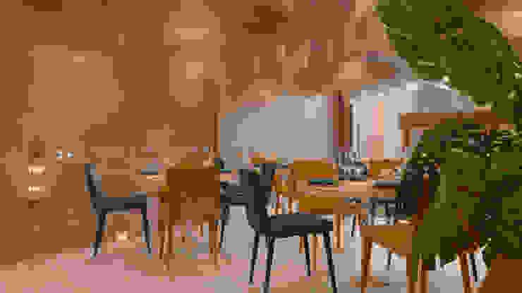 Restaurante Corazón de Mar Gastronomía de estilo moderno de BÖHEM STUDIO Moderno
