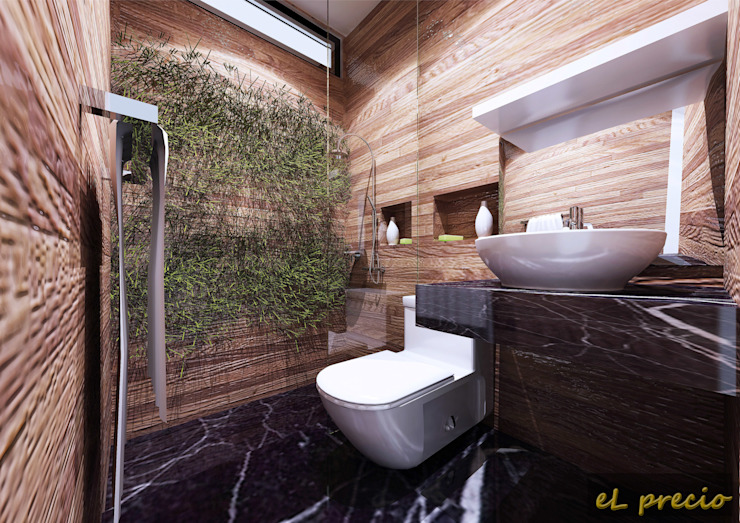 PROPOSED INTERIOR DESIGN FOR BANJARIA COURT APARTMENT AT BATU CAVES, SELANGOR Tropical style bathrooms by eL precio Tropical
