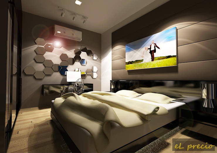 PROPOSED INTERIOR DESIGN FOR BANJARIA COURT APARTMENT AT BATU CAVES, SELANGOR eL precio Tropical style bedroom