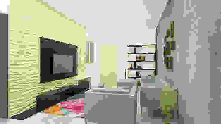 Living Room Minimalist living room by 360 Degree Interior Minimalist Plywood