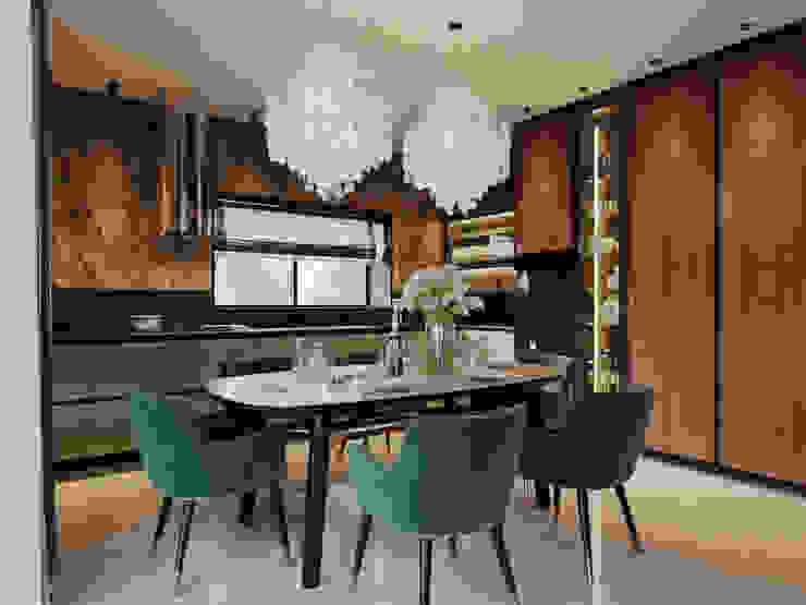 Дизайн интерьера загородного дома Кухни в эклектичном стиле от Дизайнер Евгений Андреев Эклектичный