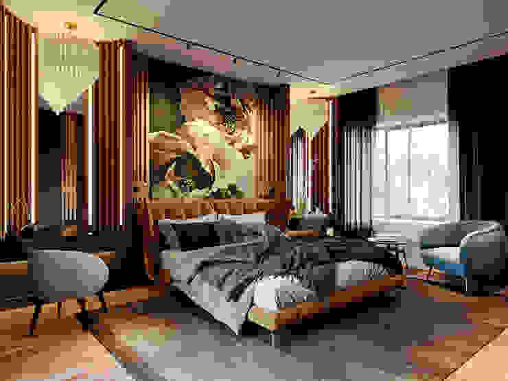 Дизайн интерьера загородного дома Спальня в эклектичном стиле от Дизайнер Евгений Андреев Эклектичный