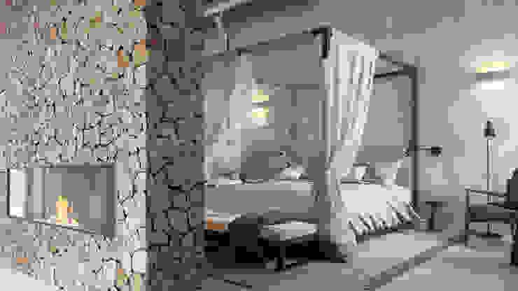 Hema Interiors Camera da letto in stile mediterraneo