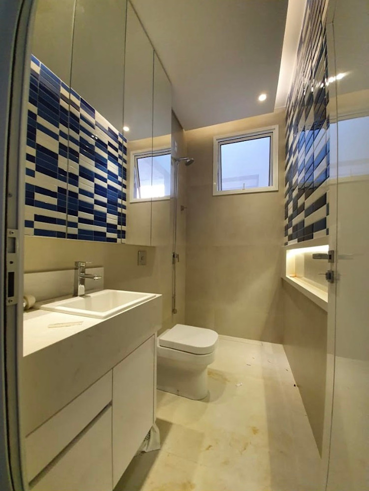 ISADORA MARTEL interiores Minimalist style bathroom Ceramic Blue