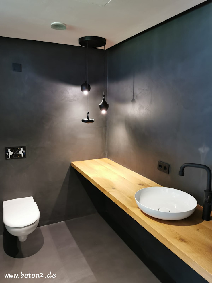 BETON2 Modern bathroom Concrete Grey