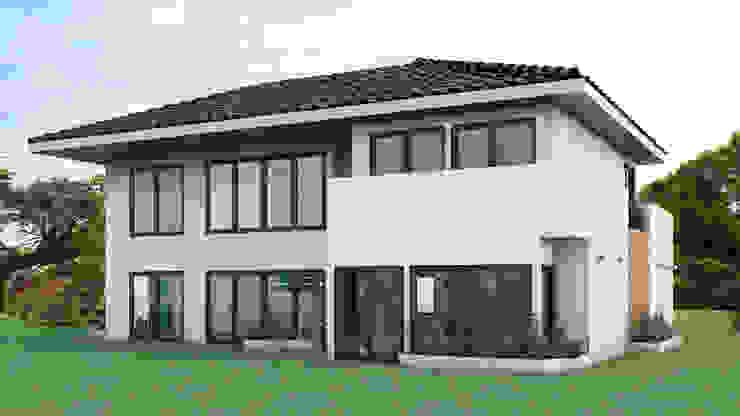 Fachada Parte Posterior Casas modernas de Gabriela Afonso Moderno