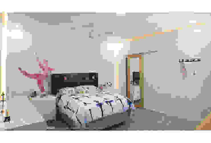 Resultado final ARQSU, Arquitectura e Interiorismo Dormitorios de estilo moderno Blanco