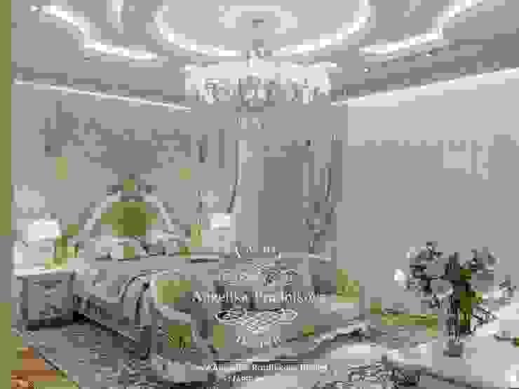 Дизайн-проект интерьера спальни в коттедже в классическом стиле Дизайн-студия элитных интерьеров Анжелики Прудниковой Спальня в классическом стиле