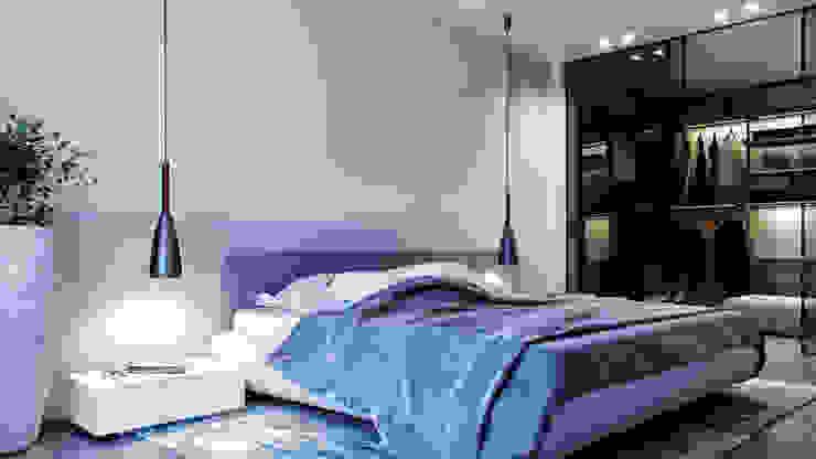 спальня by дизайн студия А Гординского Minimalist Wood-Plastic Composite