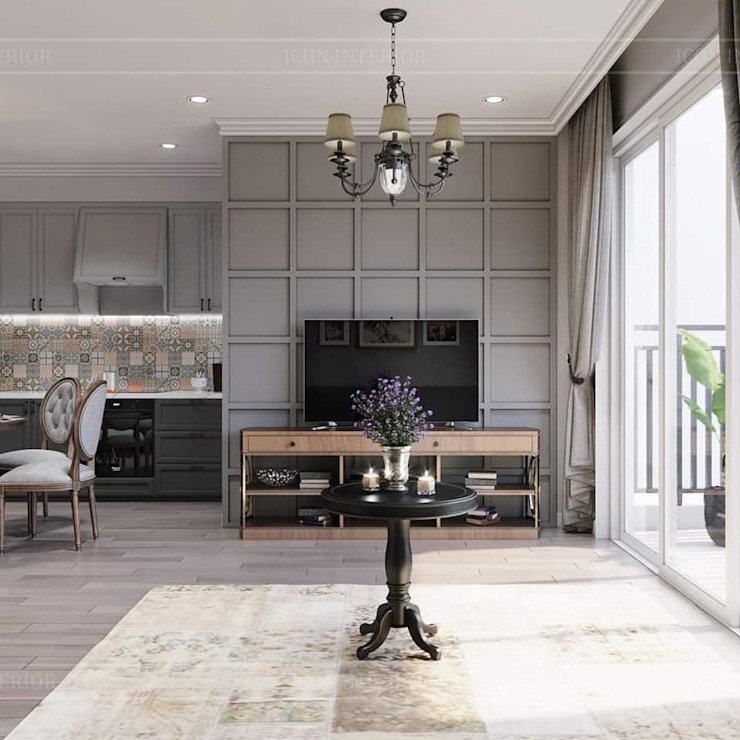 Rustic style living room by ICON INTERIOR Rustic