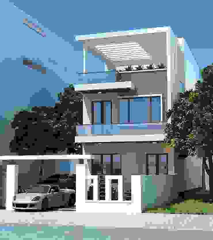 Các mẫu nhà phố đẹp 2 tầng phù hợp xu hướng hiện nay bởi Thiết kế nhà đẹp ở Hồ Chí Minh