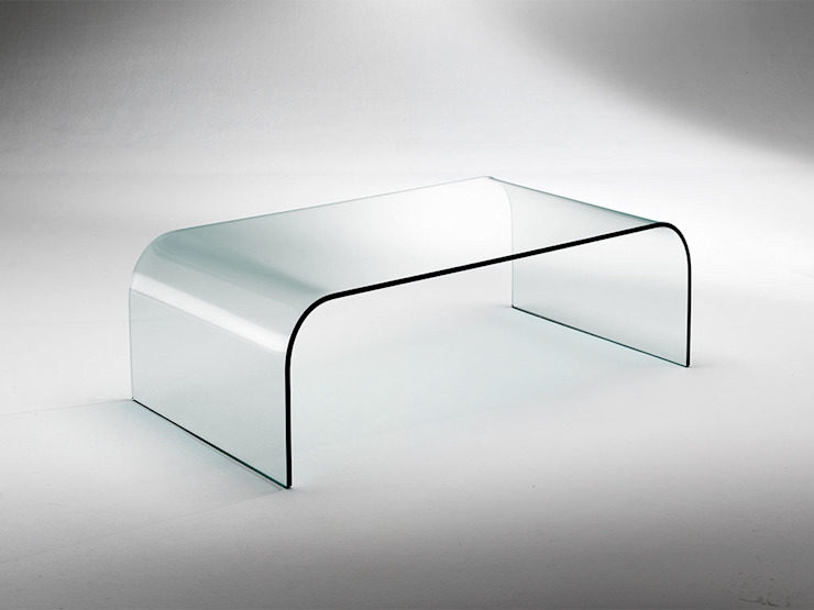 Curved glass table for living room Gallery INFABBRICA SalasMesas de centro y auxiliares Vidrio Transparente
