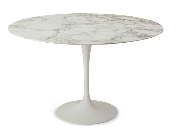 Tulip Saarinen round table diameter 100 INFABBRICA Dining roomTables Marble White