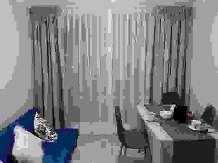 Visillo más cortina gruesa de blackout de CORTINAJES MEDITH Clásico