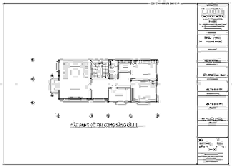 Thiết kế biệt thự mini 2 tầng đẹp với mái thái bởi Công Ty Thiết Kế Xây Dựng LOUIS
