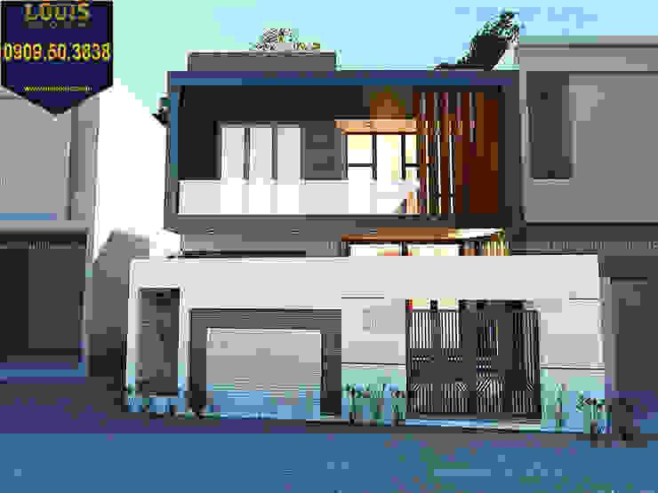 3/ Biệt thự mini 2 tầng đẹp giá rẻ với thiết kế mái bằng bởi Công Ty Thiết Kế Xây Dựng LOUIS