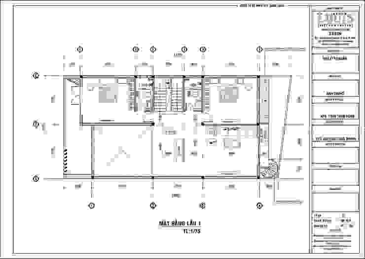 Biệt thự mini 2 tầng đẹp giá rẻ với thiết kế mái bằng bởi Công Ty Thiết Kế Xây Dựng LOUIS
