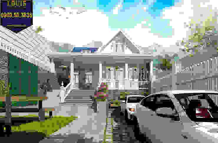 4/ Thiết kế biệt thự 2 tầng phong cách đồng quê kiểu Mỹ bởi Công Ty Thiết Kế Xây Dựng LOUIS