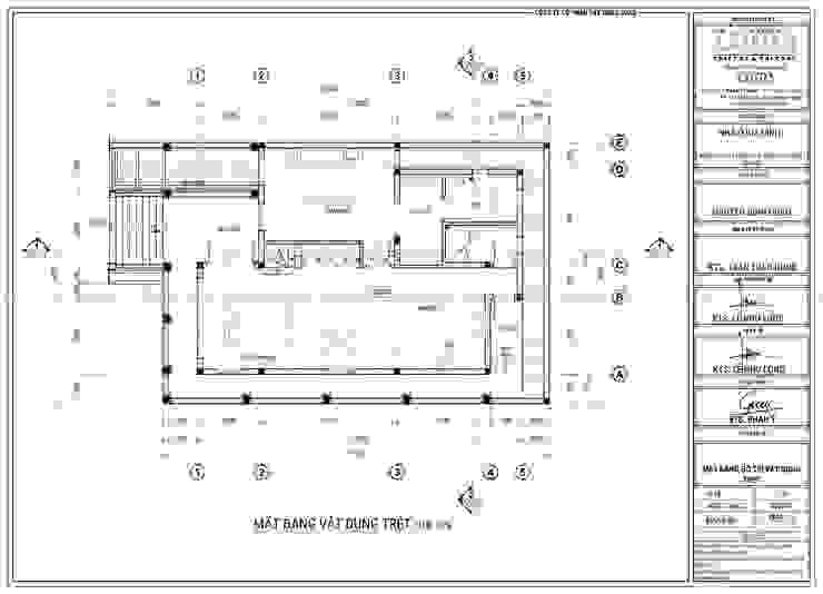 Thiết kế biệt thự 2 tầng phong cách đồng quê kiểu Mỹ bởi Công Ty Thiết Kế Xây Dựng LOUIS