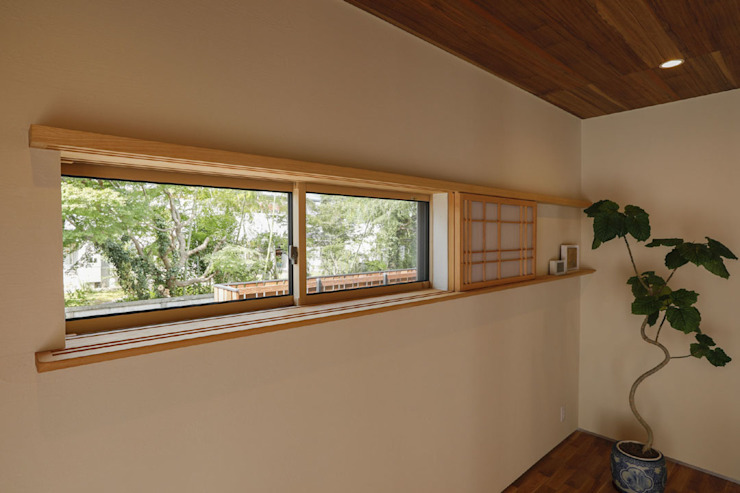 Asian style window and door by 光風舎1級建築士事務所 Asian Wood Wood effect