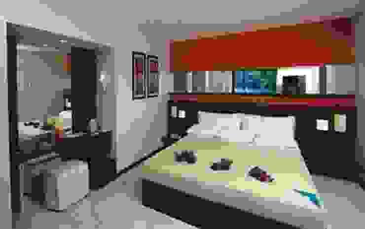 Moderne hotels van SERPİCİ's Mimarlık ve İç Mimarlık Architecture and INTERIOR DESIGN Modern Bamboe Groen