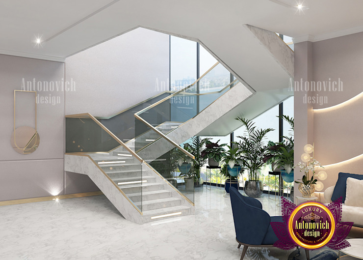 Modern Contemporary Lounge Interior Design by Luxury Antonovich Design