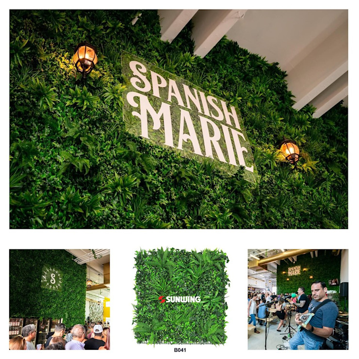 Hositality Green wall by Sunwing Industries Ltd Tropical Plastic